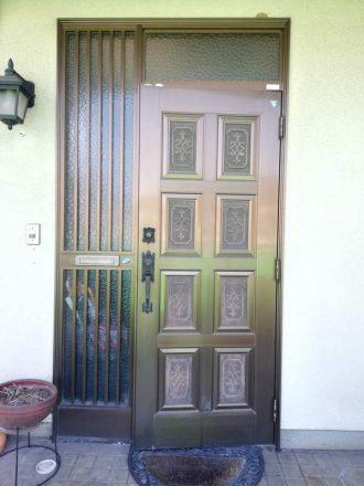ウッドデッキ&玄関の交換