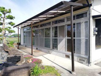 縁側の広い窓の台風対策 in合志市