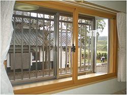 熊本県菊池市の内窓(二重窓)リフォーム施工例の施工後の写真です。