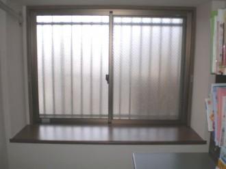 熊本県熊本市の内窓(二重窓)リフォーム施工例の施工前の写真です。