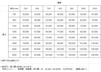 ソリッドフロー価格表